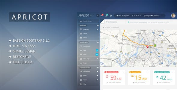 Tracker Website Templates from ThemeForest