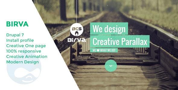 Birva - Creative One Page Drupal Theme - Portfolio Creative