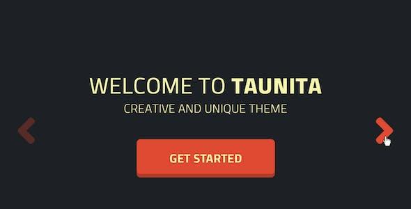 Taunita - One Page Portfolio Parallax PSD Template