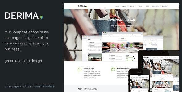 Derima - Creative One Page Multi-Purpose Template - Creative Muse Templates