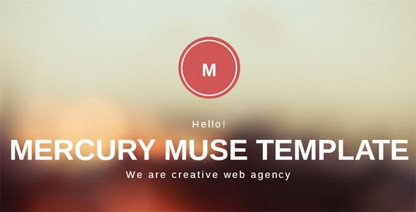 Mercury One Page Creative Muse Template