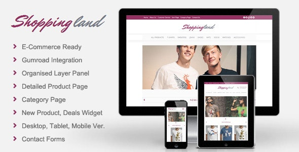 Shoppingland - eCommerce Muse Template - eCommerce Muse Templates
