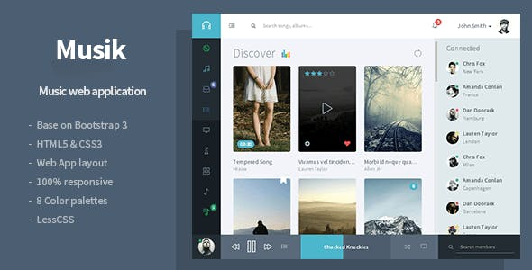 Musik - Music Web Application Template by Flatfull
