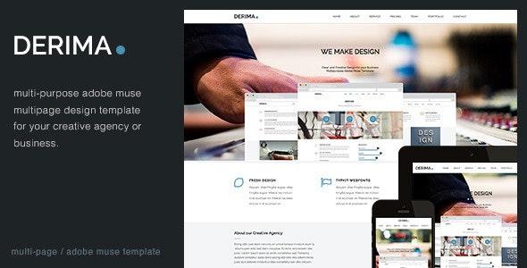 Derima - Multi-Purpose Muse Template - Corporate Muse Templates