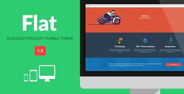 FLAT - Responsive Business Tumblr Theme