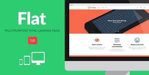 FLAT - Responsive Multipurpose Landing Page
