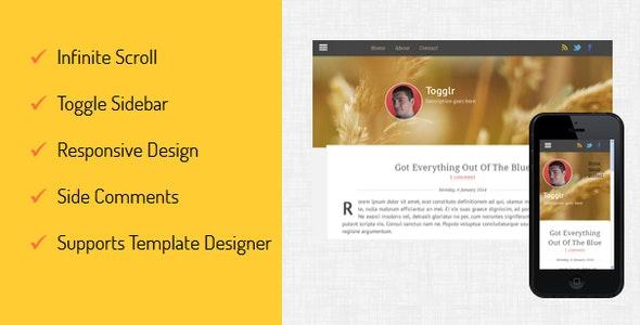 Togglr - Clean Responsive Blogger Template - Blogger Blogging