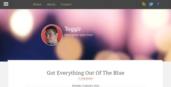 Togglr - Clean Responsive Blogger Template