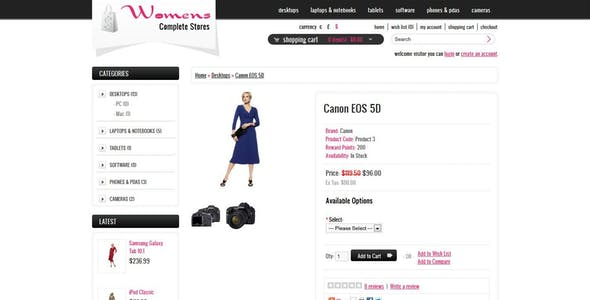 Womens Stores Opencart Theme