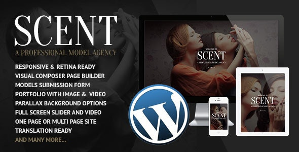 Scent - Model Agency WordPress Theme - Photography Creative