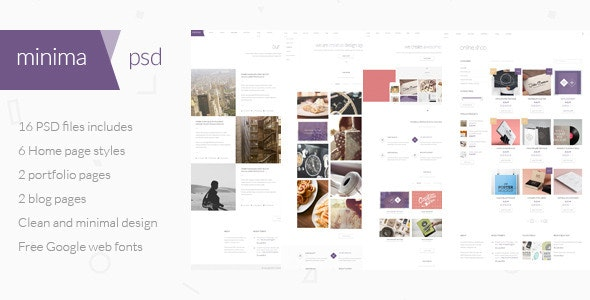 Minima - Multipurpose PSD Template - Portfolio Creative
