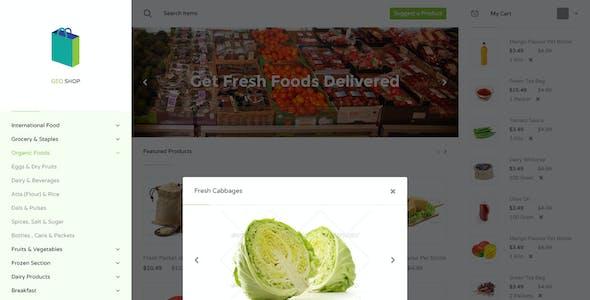 Geo Shop - Groceries Shopping Website