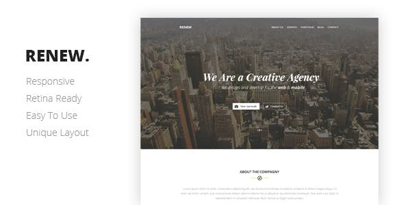 RENEW Creative One Page Template