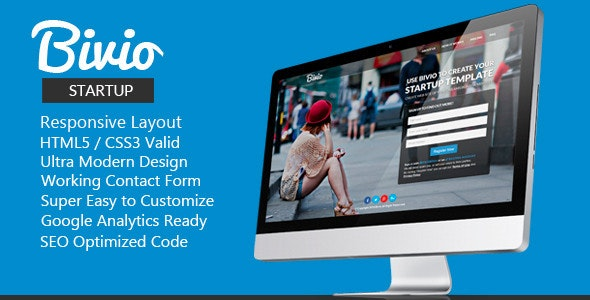 Bivio - Startup Responsive HTML5 Template - Creative Landing Pages