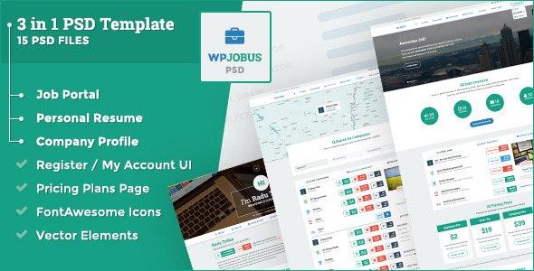 WPJobus - Job Portal, Resume and Company Profile - Corporate Photoshop
