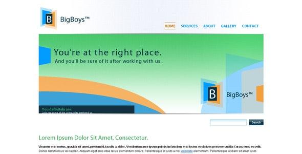 BigBoys Corporate Template - Corporate Site Templates