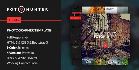 FotoHunter - Creative Photographer Template - Photography Creative