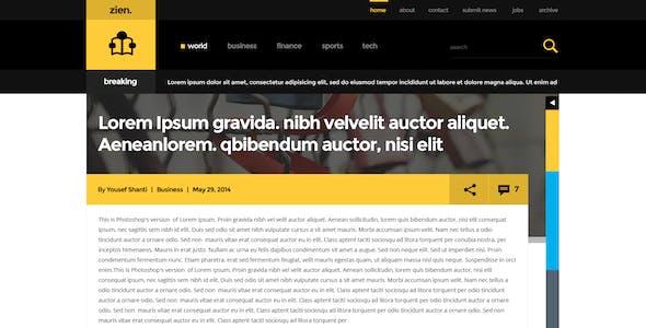 Zien   Magazine PSD Template
