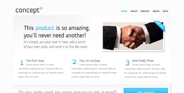 Concept, an ultra clean web layout.