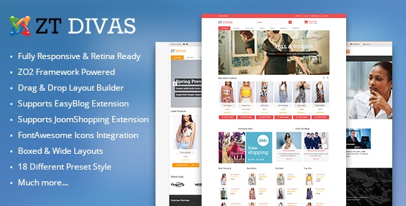 ZT Divas multi-purpose joomla template - Joomla CMS Themes