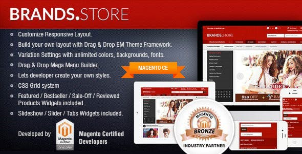 Gala Brand Store - Responsive Magento Template