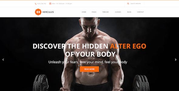 Hercules | Gym Fitness HTML Theme