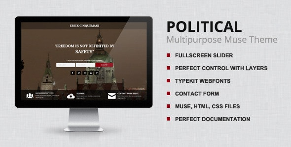 Political - Muse Template - Landing Muse Templates