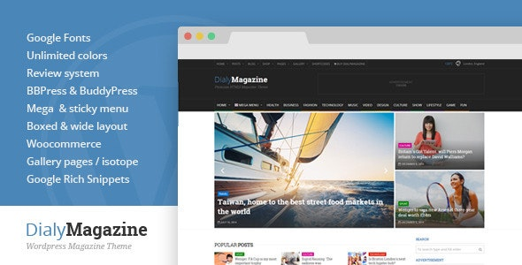 DialyMagazine - Clean & Flat Magazine Theme - News / Editorial Blog / Magazine