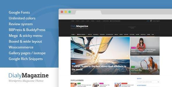 DialyMagazine - Clean & Flat Magazine Theme