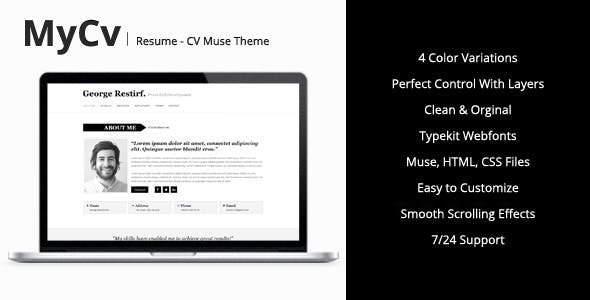 My Cv Resume Muse Template