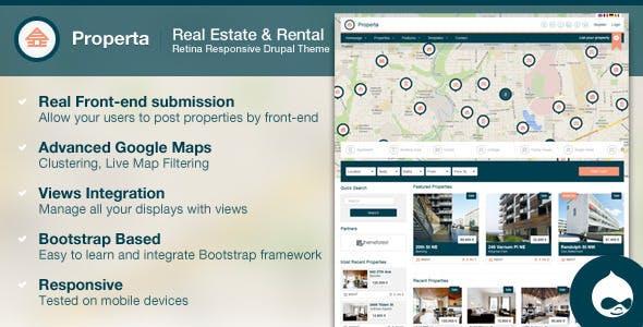 Properta - Real Estate Drupal Theme