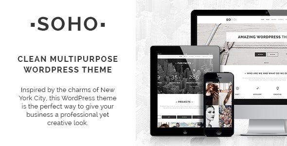 Soho - Clean Multipurpose Theme - Creative WordPress