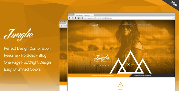 Junghe - One Page Personal Portfolio Templates - Personal Photoshop