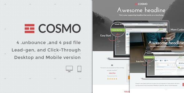 Cosmo - Bundle Unbounce pages