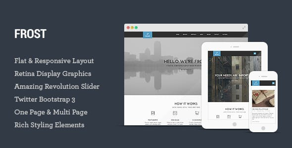 Frost - Multipurpose Responsive One Page HTML5