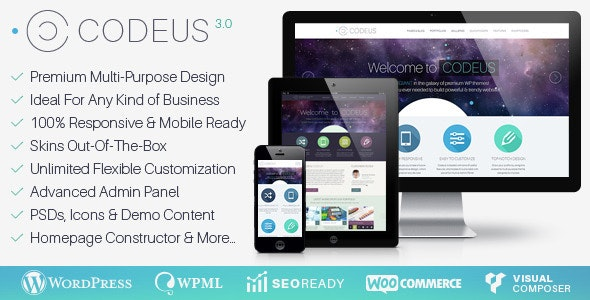 Codeus — Multi-Purpose Responsive Wordpress Theme - Corporate WordPress
