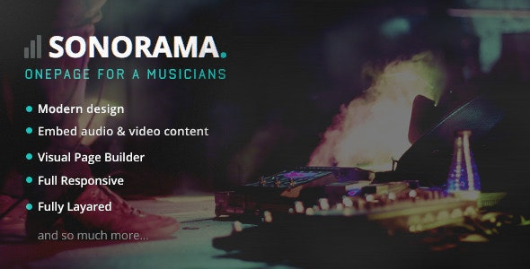 Sonorama - Music Band & Musician WordPress Theme - Music and Bands Entertainment