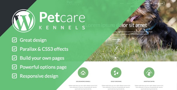 PetCare Dog Kennels WordPress Theme - Business Corporate