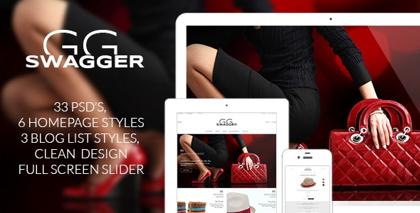 SWAGGER - Modern Shop PSD Template - Shopping Retail