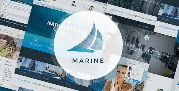 Marine PSD Template - Corporate Photoshop