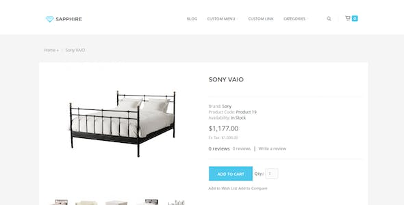 Sapphire - Bootstrap 3 eCommerce Template