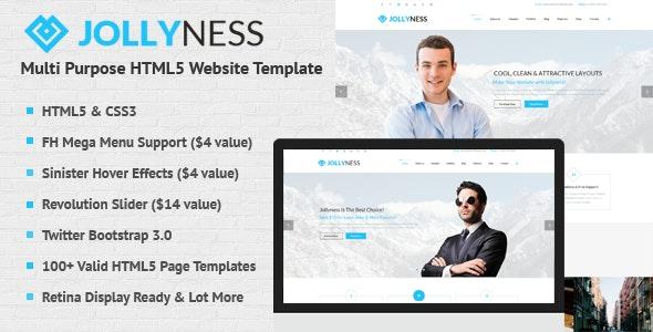 Jollyness - Multi Purpose HTML5 Website Template - Business Corporate