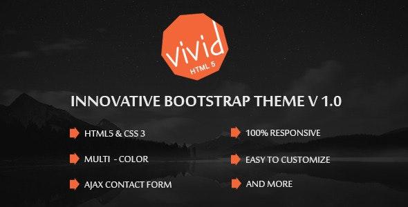 Vivid | Bootstrap Parallax HTML Template - Creative Site Templates