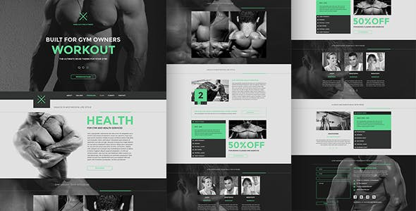Gym & Fitness One Page Muse Theme