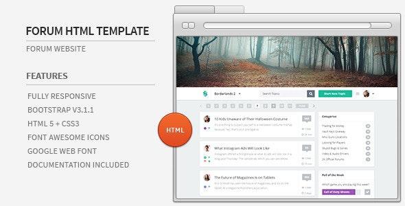 Forum Website HTML Template - Miscellaneous Site Templates