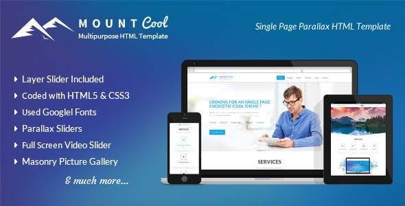 Mountcool - Multipurpose One Page Parallax Html Portfolio