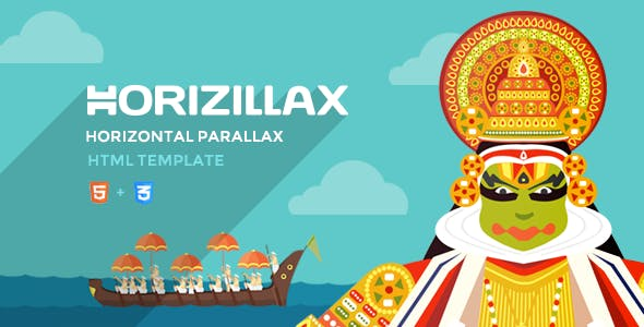 Horizillax - Horizontal Parallax HTML Template