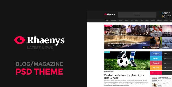 Rhaenys - PSD Magazine Theme
