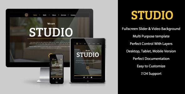 Studio - Multipurpose Muse Template - Corporate Muse Templates