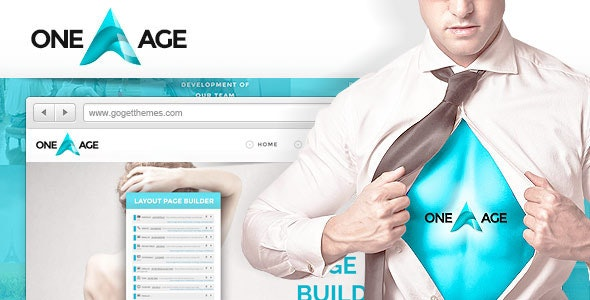 One Age - One page WordPress Theme - Business Corporate